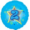 Blue Stars 2nd Birthday Balloon