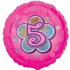 Pink Flowers 5th Birthday Balloon