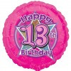 Pink Flowers 13th Balloon