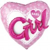 Baby Girl 3D Effect Supershape Balloon