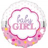 Baby Girl Pink and White Balloon