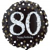 Sparkling 80th Birthday Balloon
