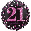 Celebration Pink 21st Birthday Balloon