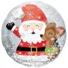 Large Bubbles Santa and Rudolph Supershape Balloon