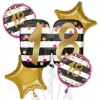 Pink and Gold 18th Birthday Balloon Bouquet