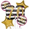 Pink and Gold 70th Birthday Balloon Bouquet