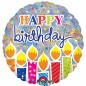 Shimmer Happy Birthday Candles Balloon